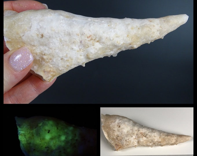 Phosphorescent Calcite Stalactite Speleothem Specimen