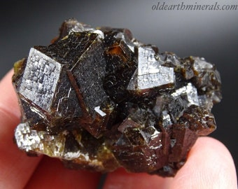 Reddish Brown Intergrown, Etched Garnet Cluster