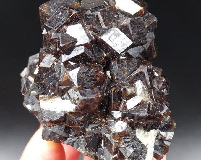 Reddish Brown Intergrown Garnet Cluster