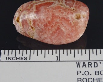 Pretty Pink Polished Rhodochrosite Tumble Stone