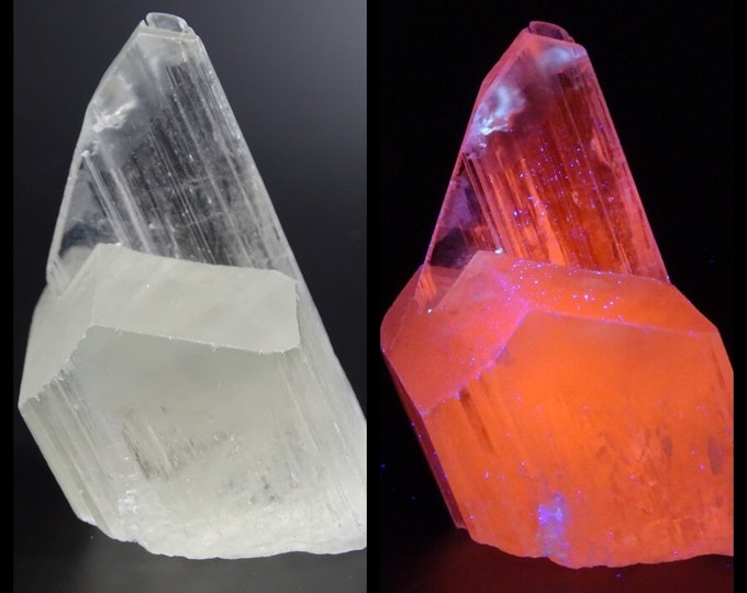 Beautifully Terminated and Unique UV Reactive Light Yellow Triphane Spodumene Crystal
