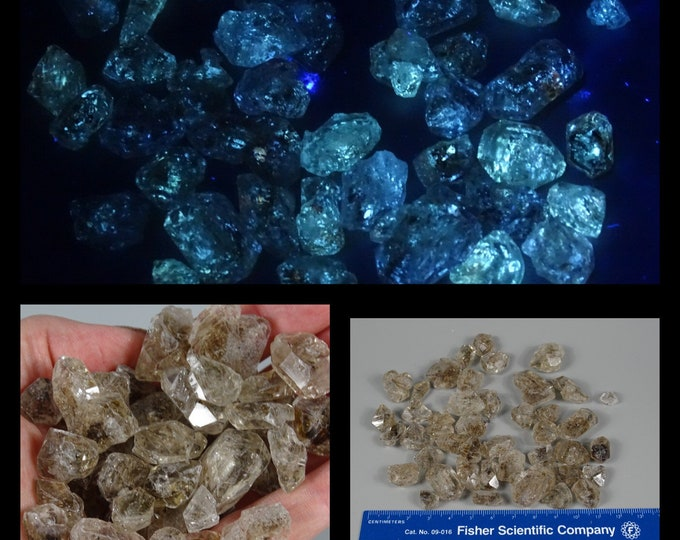 100 Gram Petroleum Skeletal Quartz Lot - UV Reactive