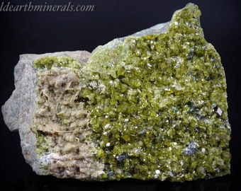 Diopside and Epidote Crystal Cluster