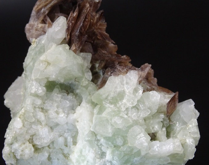 Axinite Crystals With Prehnite
