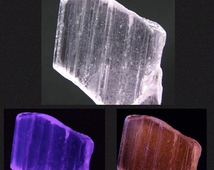 UV Reactive, Clear Light Pink / Lavender Kunzite Crystal