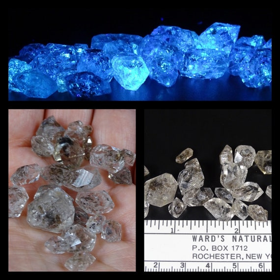 Petroleum Included Doubly Terminated Quartz Crystals - Lot of 15 Grams