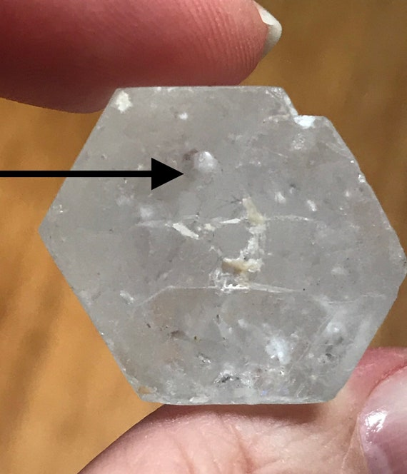 Goshenite Beryl with Moving Water Inclusion