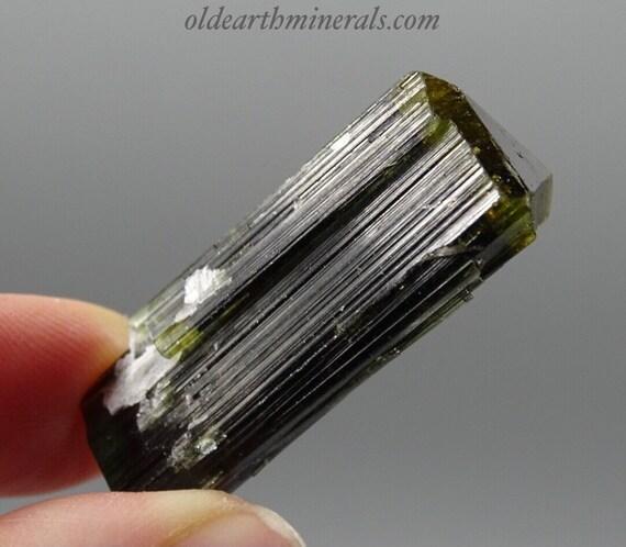 Doubly Terminated Bi-color Green Cap Tourmaline Crystal