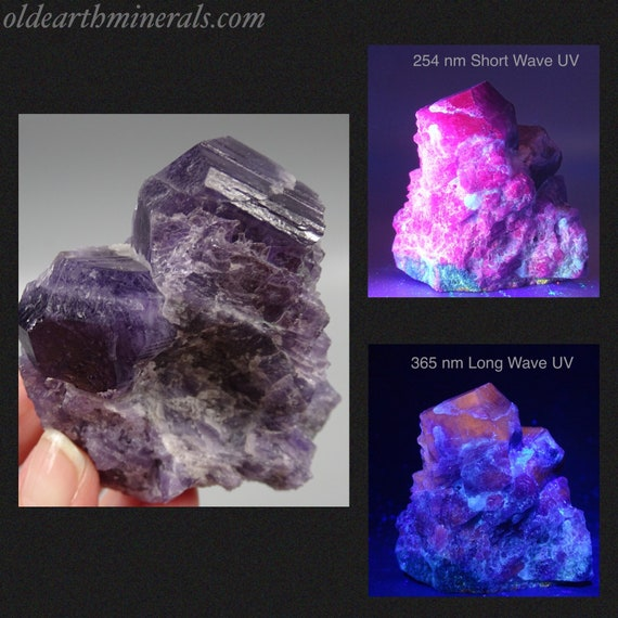 UV Reactive Marialite Scapolite Crystals with Minor Diopside on Matrix