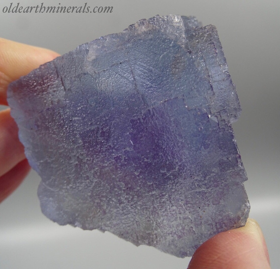 Beautiful Blue Partial Fluorite Cube with Phantom