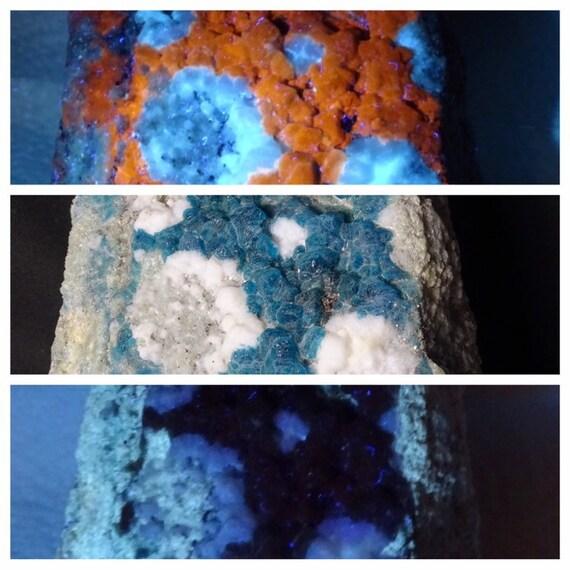 UV Reactive Blue Green Sodalite on Matrix