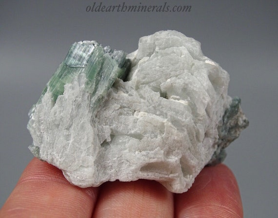 Pretty Aqua-Green Tourmaline Cluster with Clevelandite