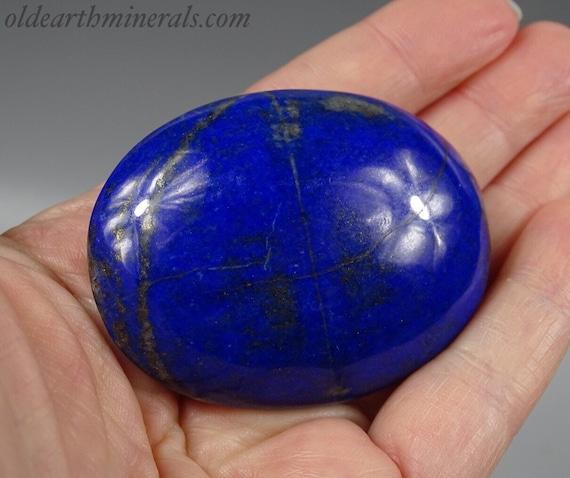 Beautiful Royal Blue Lapis Palm Stone