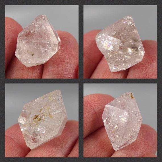 "Lot of 4 Doubly Terminated ""Diamond"" Quartz Crystals"