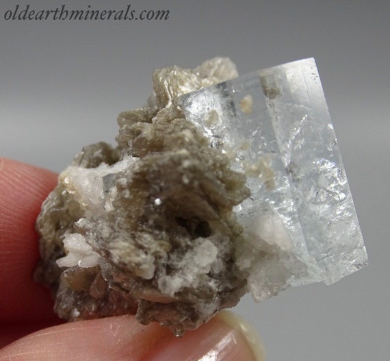 Aquamarine Crystal with Mica and Albite