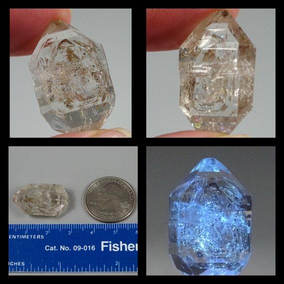 2.5 cm Tabular Petroleum Quartz Crystal