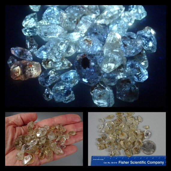 Petroleum Included Doubly Terminated Quartz Crystals - Lot of 50 Grams