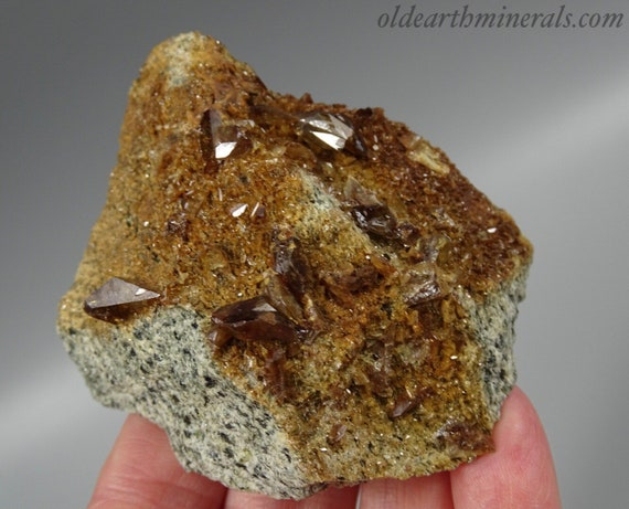 Brown Colored Titanite Crystals on Matrix