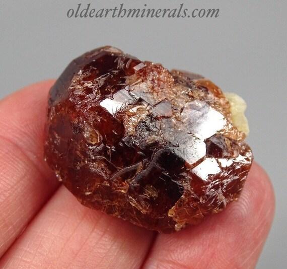 Red Etched Garnet Crystal
