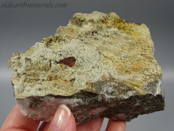 Delicate Brookite Crystals Nestled in Matrix