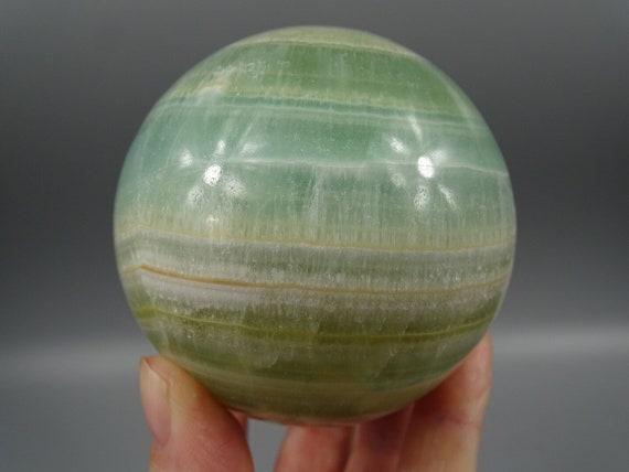 "66 mm Green ""Pistachio"" Calcite Sphere"