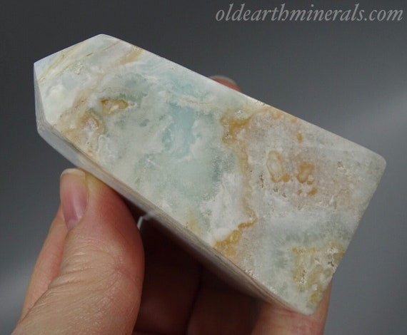 "Blue Calcite / Aragonite Tower ""Caribbean Calcite"""