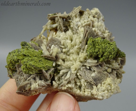 Epidote Crystal Fans with Axinite & Quartz - Peru