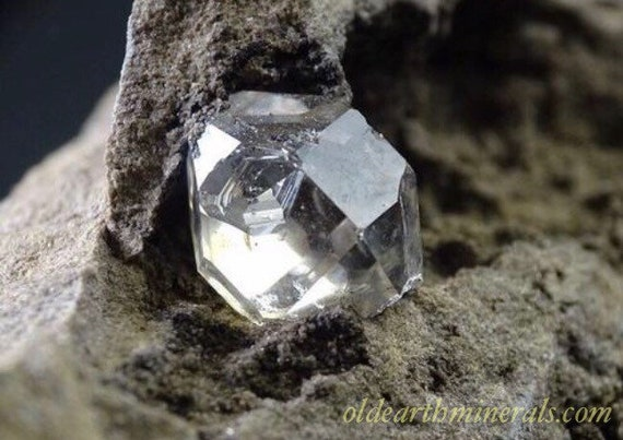 "Water Clear Herkimer ""Diamond"" Quartz in Matrix"