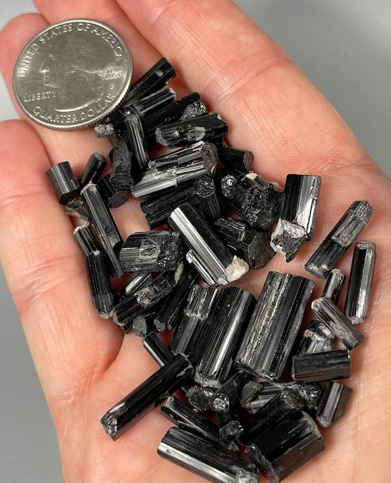Schorl / Black Tourmaline Crystals - 30 gram Lot