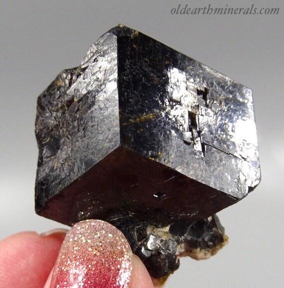 Partial Dark Brown / Black Garnet Crystal