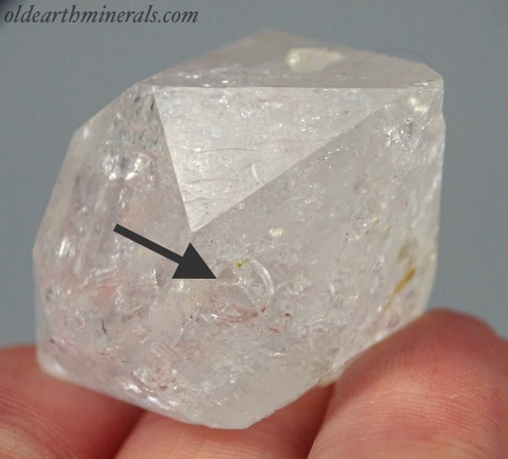 """Doubly Terminated """"Diamond"""" Quartz Crystal with a Water Inclusion"""