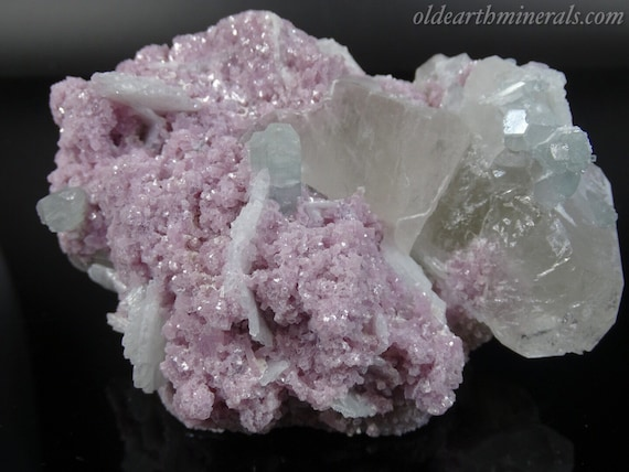 Pretty Aqua-Green Tourmaline Cluster with Lepidolite, Quartz & Clevelandite