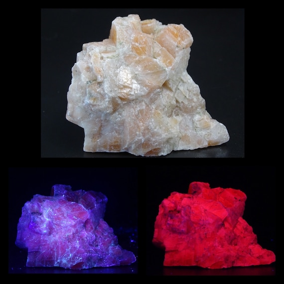 UV Reactive Orange/Pink Calcite Specimen
