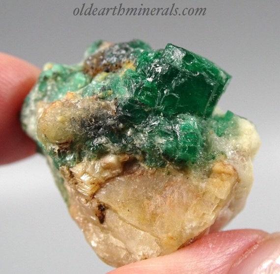 Beautiful Rough Emerald Crystals on Matrix