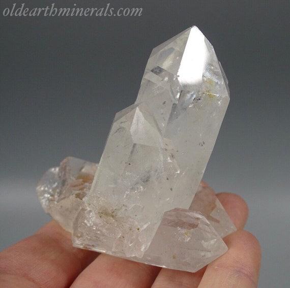 Clear Quartz Crystals & Faden Cluster