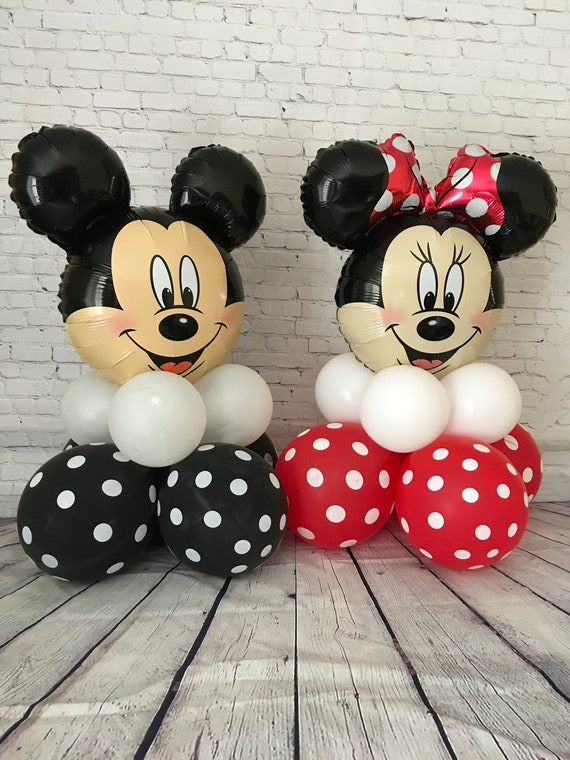 """New 36/"""" Red MINNIE MOUSE Balloons Birthday balloon bow tie Party Mickey supplies"""
