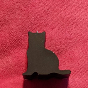 Curiosity Black Cat Resin Brooch by EllyMental