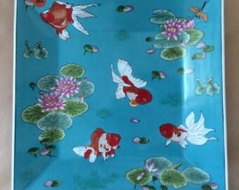 Goldfish porcelain dish - tray