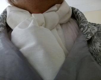 Taffeta Regency inspired men's cravat