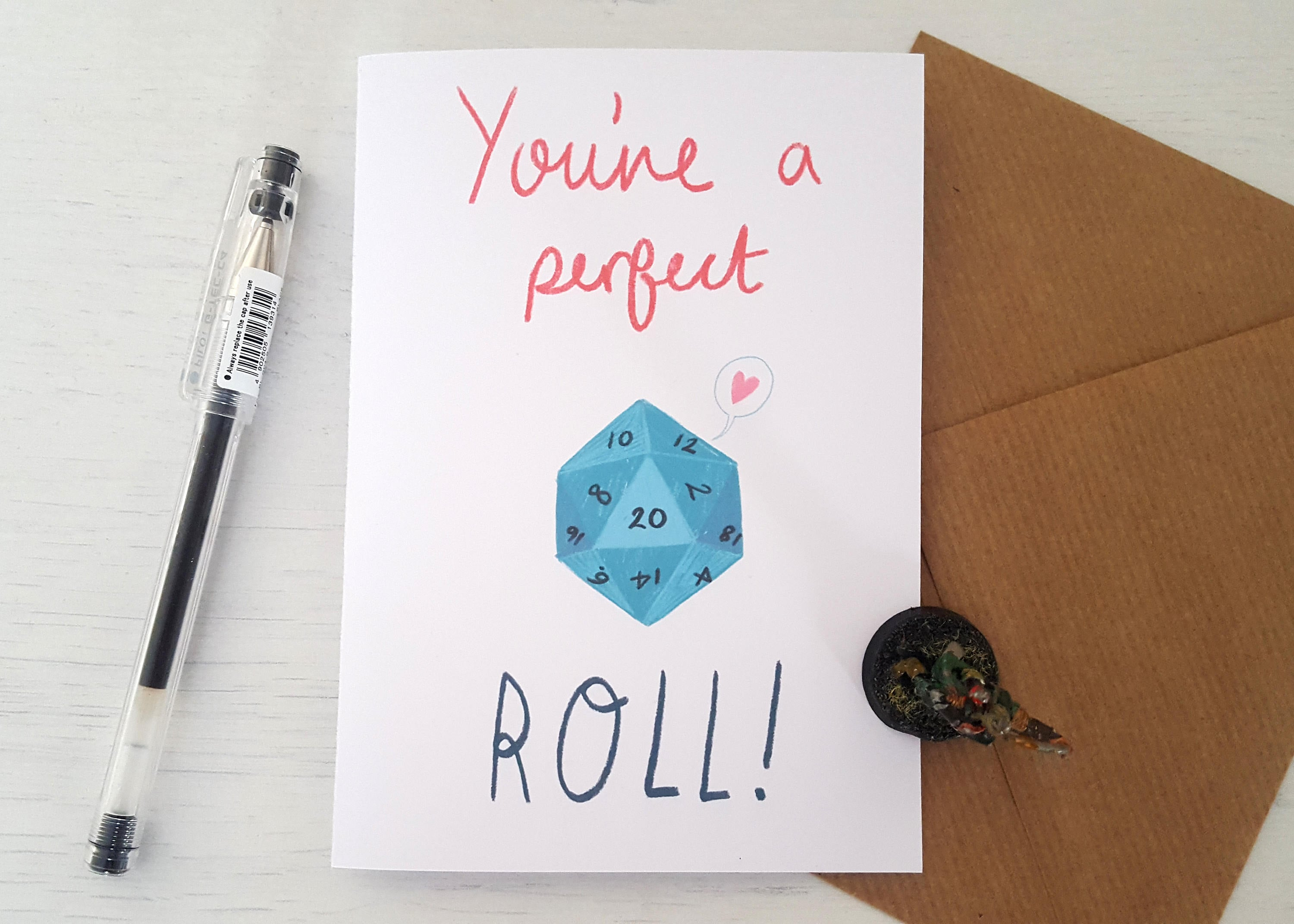 The Perfect Roll Dungeons Dragons Inspired Valentines Etsy