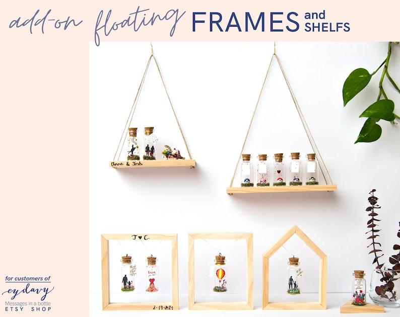 Floating frame wood handmade. Swing. Frame your message. image 0
