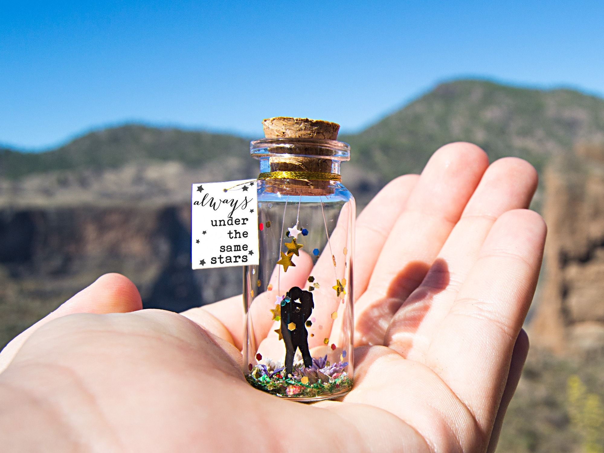Valentines Day Gift Long Distance Gift For Boyfriend Long Distance Relationship Gift For Girlfriend Anniversary Gift For Him Message Bottle