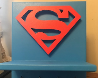 Superman Key Holder Shelf Wall Hanging