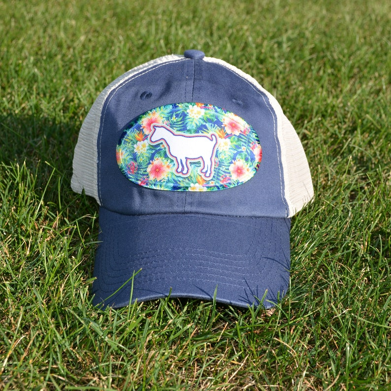 Goat Girl Goat Gift Goat Teen Trucker Cap Floral Goat Goat Lady Hippie Goat Hat Boho Goat Hat Goat Baseball Hat Goat Hat Goat Mom