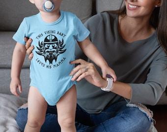 Baby Loves Pappa Baby Viking loves his Mamma Loves Papa and Mama Viking Baby Onesie Viking Gifts Viking Baby gifts,