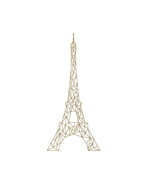 picture relating to Eiffel Tower Printable named Gold Eiffel Tower, Geometric Eiffel Tower, Printable Paris Artwork, Gold and White, Stylized Eiffel Tower, France Artwork, French Artwork