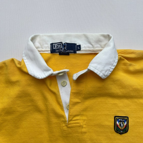 Vintage 80s Polo Uni Crest Rugby Shirt - image 3