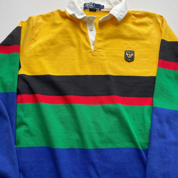Vintage 80s Polo Uni Crest Rugby Shirt - image 2