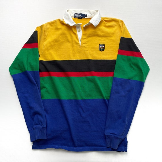 Vintage 80s Polo Uni Crest Rugby Shirt - image 1