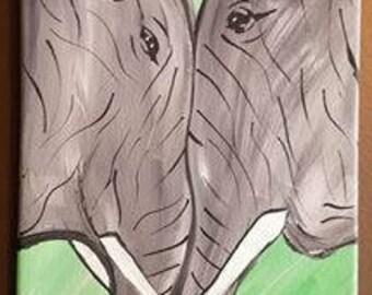 Elephant Love Canvas